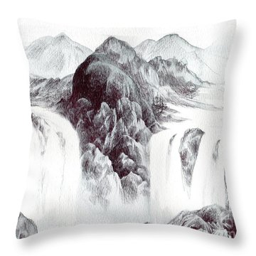 Tranquil Thunder Throw Pillow