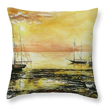 Tranquil Tide Throw Pillow by Andrew Read