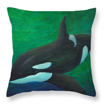 Throw Pillow featuring the painting Tranquile Force by Phyllis Howard