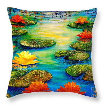 Tranquility 3 Throw Pillow
