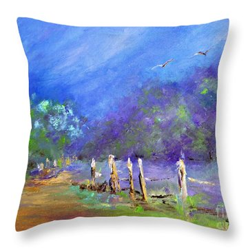 Throw Pillow featuring the painting Tranquility by AmaS Art