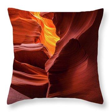 Tranquility - Antelope Slot Canyon Throw Pillow