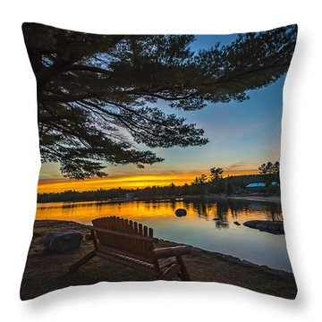 Tranquility At Sunset Throw Pillow