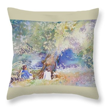 Tranquility At The Brandywine River Throw Pillow