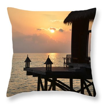 Tranquility Throw Pillow by Corinne Rhode