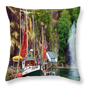 Tranquility Throw Pillow by David Wagner