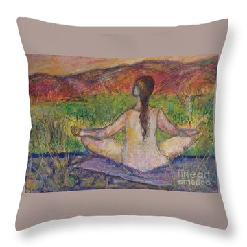 Tranquility Throw Pillow by Gail Butters Cohen