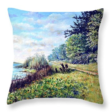 Tranquility Throw Pillow by Heidi Kriel