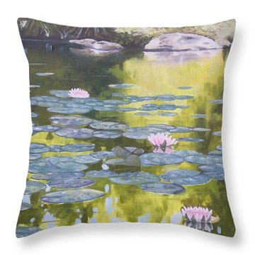 Throw Pillow featuring the painting Tranquility IIi Furman University by Robert Decker