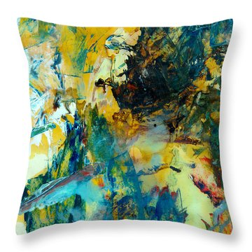 Tranquility Man #307 Throw Pillow by Donald k Hall