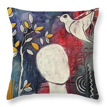Tranquility Throw Pillow by Mimulux patricia no No