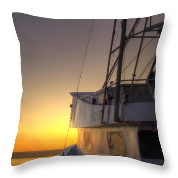 Tranquility On The Bay Throw Pillow