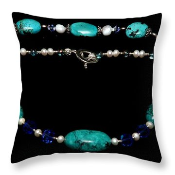 Tranquility Set Throw Pillow by Yael VanGruber