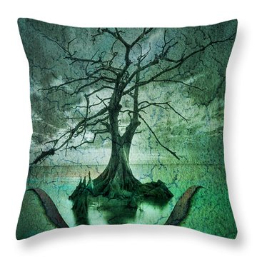 Tranquility Tree Throw Pillow by Greg Sharpe