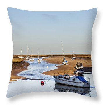 Tranquility - Wells Next The Sea Norfolk Throw Pillow