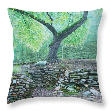 Throw Pillow featuring the painting Tranquillity by Mike Ivey