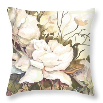 Tranquility Study In White Throw Pillow