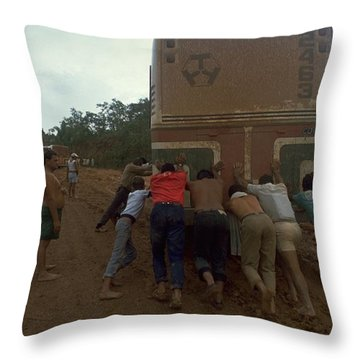 Trans Amazonian Highway, Brazil Throw Pillow