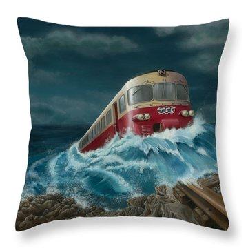 Trans Europe Express Throw Pillow
