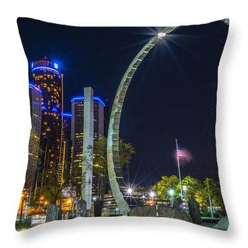 Transcend Detroit  Throw Pillow