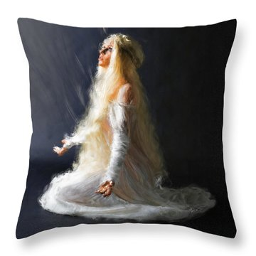 Transcendence One Throw Pillow by Dave Luebbert