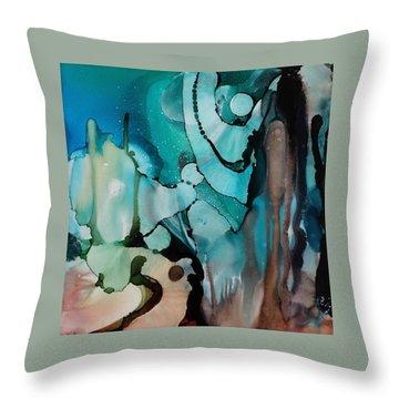 Transcendence Wth Goddess Throw Pillow