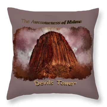 Transcendent Devils Tower 2 Throw Pillow