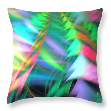Transcending Throw Pillow by Kim Sy Ok