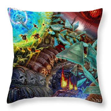 Transending Thoughts Throw Pillow by Tony Koehl
