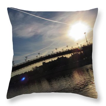 Transfix The Sun Throw Pillow