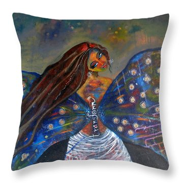 Throw Pillow featuring the painting Transform by Prerna Poojara