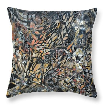 Throw Pillow featuring the mixed media Transformation by Joanne Smoley