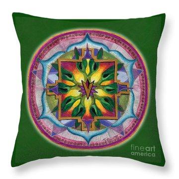 Transformation Mandala Throw Pillow