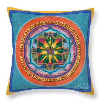 Transformation Mandala Prayer Throw Pillow
