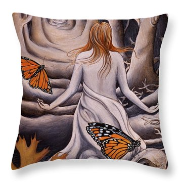 Transformation Throw Pillow by Sheri Howe