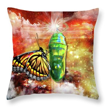 Transformed By The Truth Throw Pillow by Dolores Develde