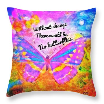 Transformed Throw Pillow