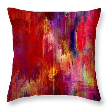 Transition - Abstract Art Throw Pillow