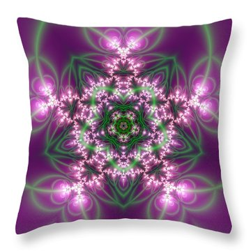 Transition Flower 5 Beats Throw Pillow