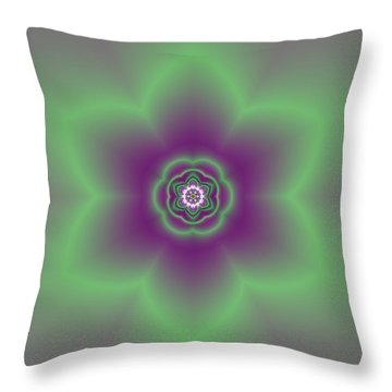 Transition Flower 6 Beats 2 Throw Pillow
