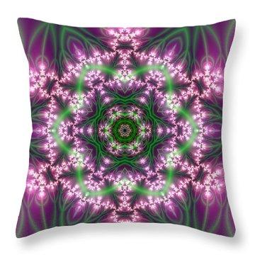 Throw Pillow featuring the digital art Transition Flower 6 Beats 4 by Robert Thalmeier