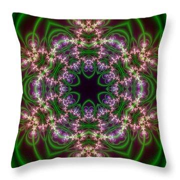 Throw Pillow featuring the digital art Transition Flower 6 Beats by Robert Thalmeier