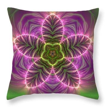 Throw Pillow featuring the digital art Transition Flower by Robert Thalmeier