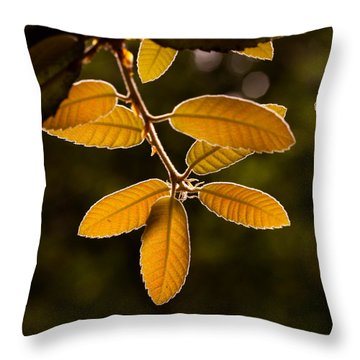 Translucent Leaves Throw Pillow