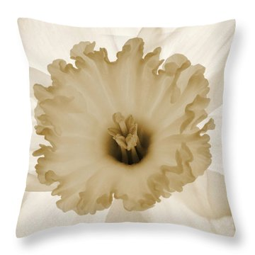 Translucent Narcissus. Throw Pillow