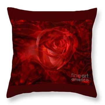Translucent Rose Throw Pillow