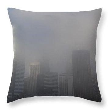 Translucent Skyline Throw Pillow