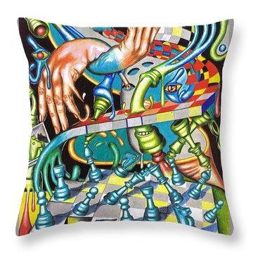 Transmutation Of Time, Reflex, And Observation Throw Pillow