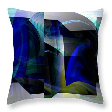 Geometric Transparency  Throw Pillow by Thibault Toussaint