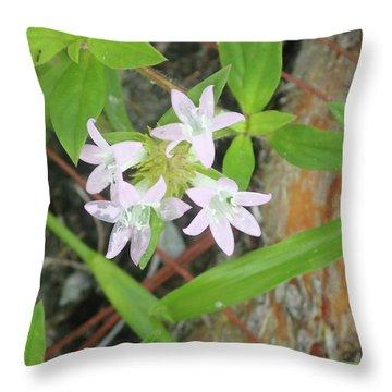 Transparent Flowers Throw Pillow